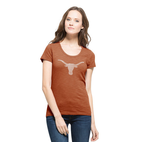 University of Texas Longhorns Burnt Orange Scrum Scoop Tee
