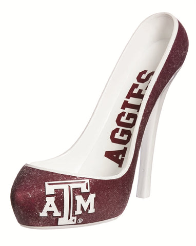 Texas A&M Aggies Glitter Shoe Bottle Holder