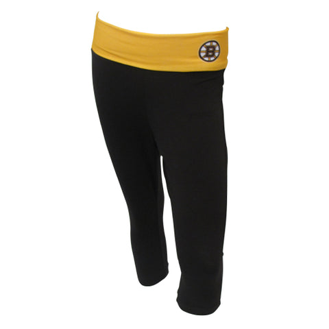 Boston Bruins Sublime Ladies Fold Over Waist Capris