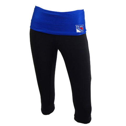 NY Rangers Sublime Ladies Fold Over Waist Capris