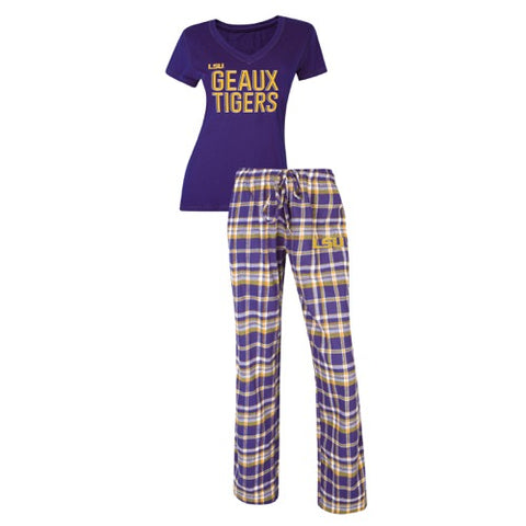 LSU Geaux Tigers Tiebreaker Pant & Top PJ Set