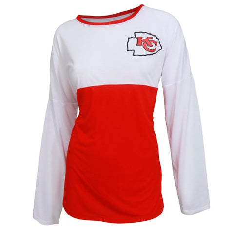 Kansas City Chiefs Vortex Ladies Long Sleeve