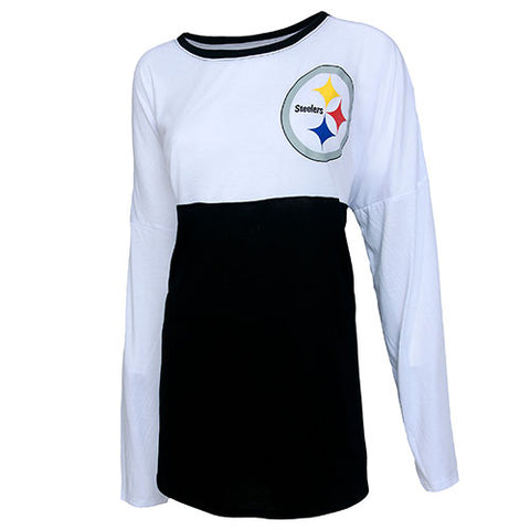Pittsburgh Steelers Vortex Ladies Long Sleeve