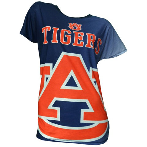 Auburn Tigers Dynamic Ladies Short Sleeve Drop Shoulder Top