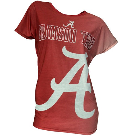 University of Alabama Crimson Tide Dynamic Ladies Short Sleeve Drop Shoulder Top