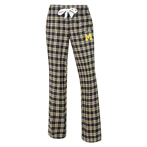 University of Michigan Wolverines Ovation Ladies Flannel Pants