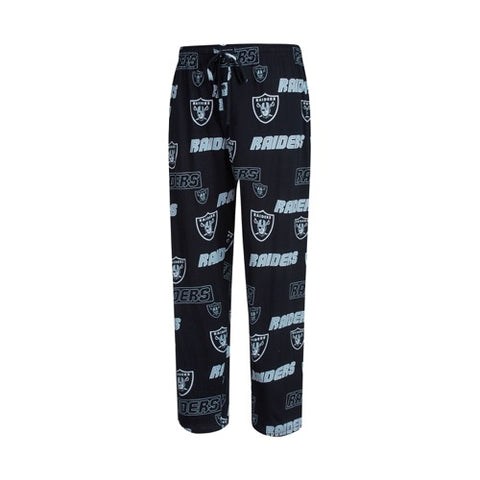 Oakland Raiders Mens Slide AOP Knit Pants