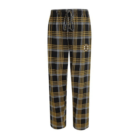Boston Bruins Playoff Mens Plaid Knit Pants