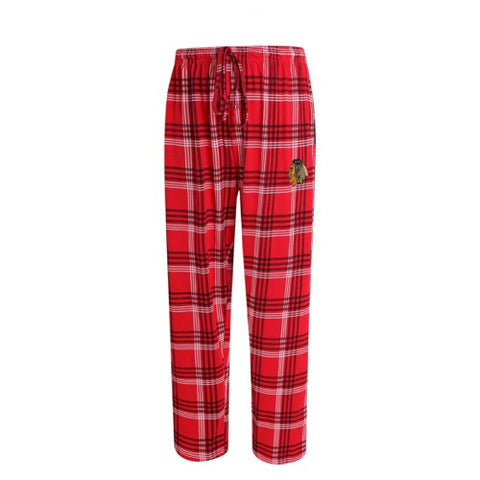 Chicago Blackhawks Playoff Mens Plaid Knit Pants