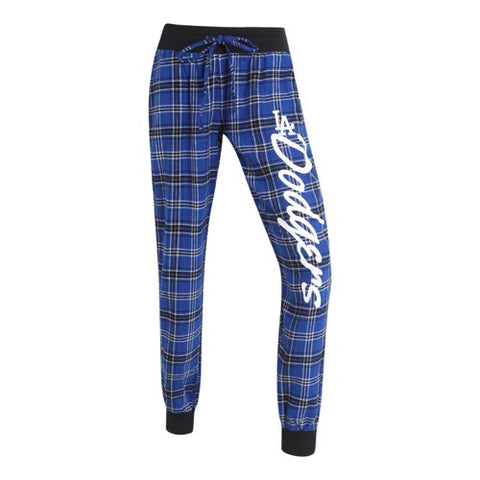 LA Dodgers Captivate Ladies Flannel Jogger Pants
