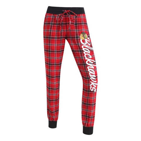 Chicago Blackhawks Captivate Ladies Flannel Jogger Pants