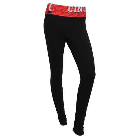 University of Cincinnati Bearcats Cameo Ladies Leggings
