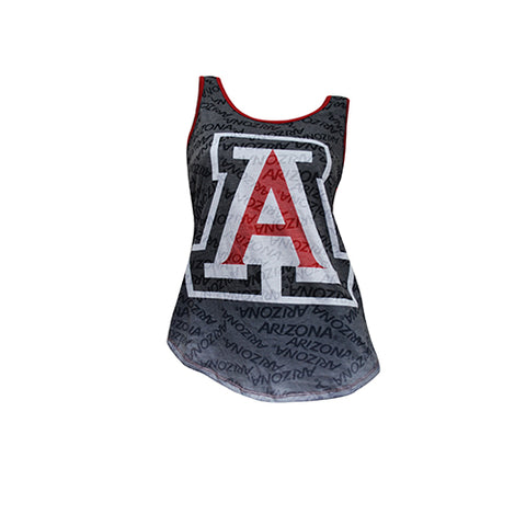University of Arizona Wildcats Cameo Burnout Tank Top