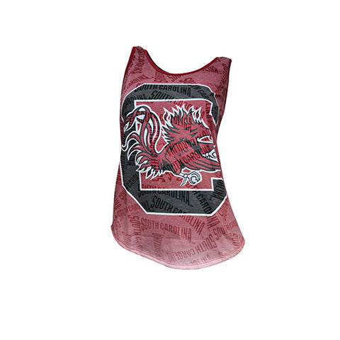 University of South Carolina (UofSC) Gamecocks Cameo Burnout Tank Top