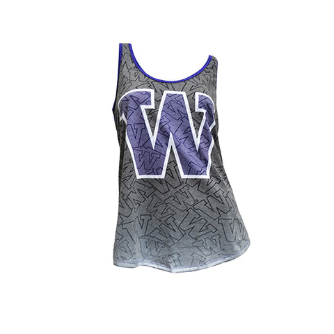 University of Washington Huskies Cameo Burnout Tank Top