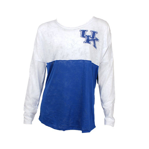 University of Kentucky Wildcats Cameo Ladies Burnout Long Sleeve