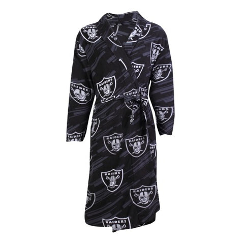 Oakland Raiders Grandstand AOP Men's Microfleece Robe