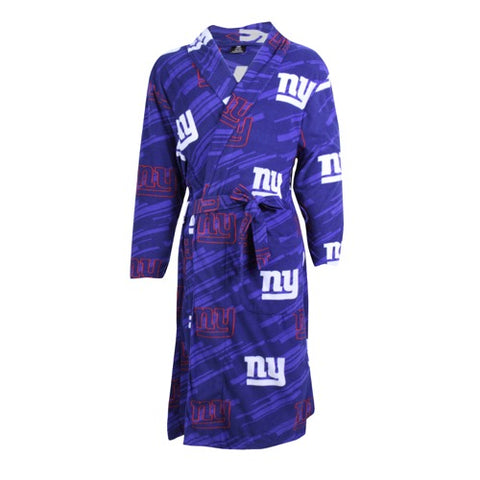 NY Giants Grandstand AOP Men's Microfleece Robe
