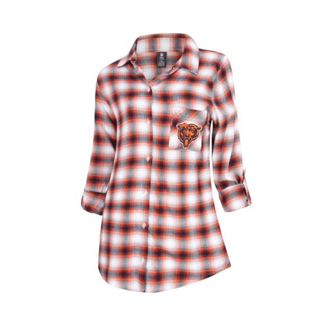 Chicago Bears Forge Ladies Flannel Long Sleeve Top