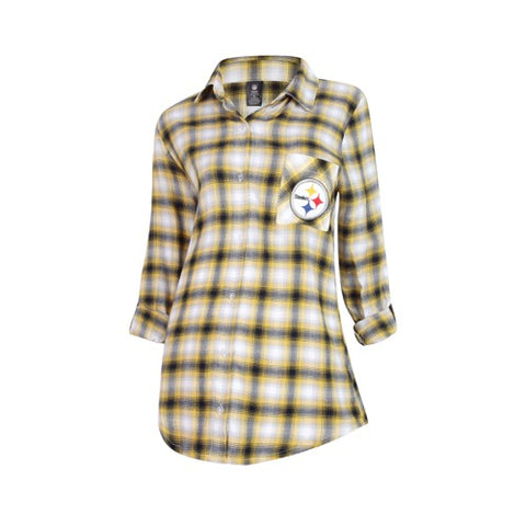 Pittsburgh Steelers Forge Ladies Flannel Long Sleeve Top