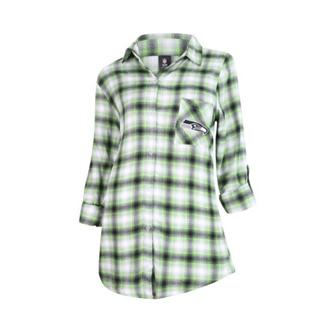 Seattle Seahawks Forge Ladies Flannel Long Sleeve Top