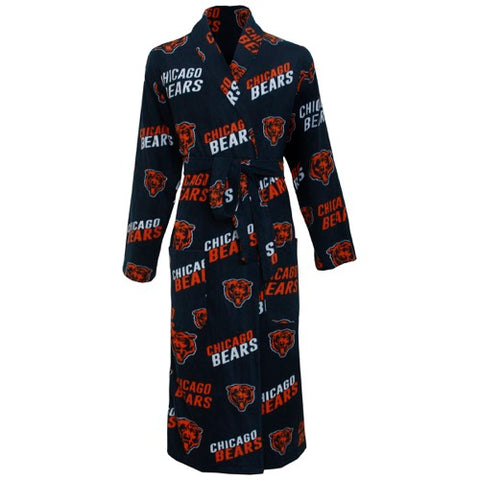 Chicago Bears Grandstand AOP Men's Microfleece Robe