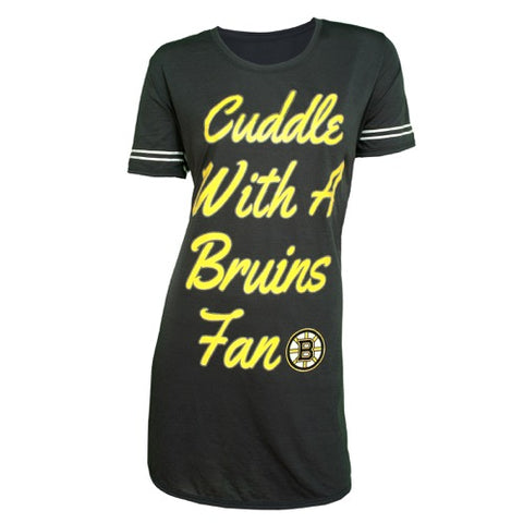 "Boston Bruins ""Cuddle with a Bruins Fan"" Tradition Ladies Knit Nightshirt"