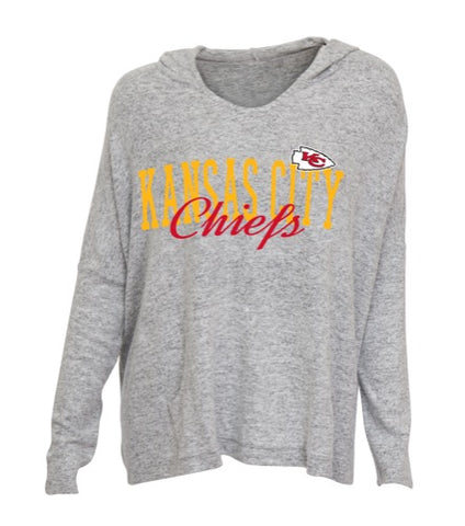Kansas City Chiefs Reprise Ladies Knit Hooded Top