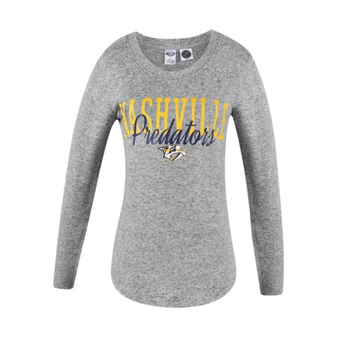 Nashville Predators Reprise Ladies Knit Long Sleeve Top