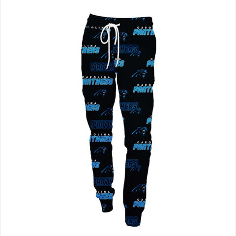 Carolina Panthers Slide Ladies AOP Knit Pants