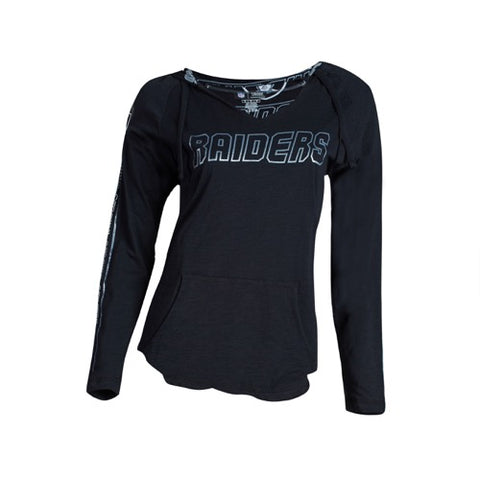 Oakland Raiders Slide Ladies Knit Hooded Top