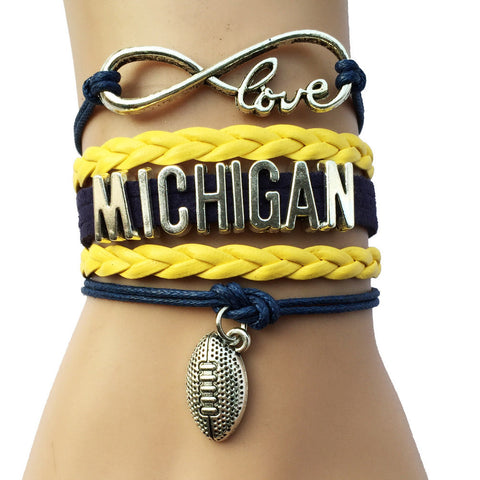 Infinity Love Michigan Bracelet