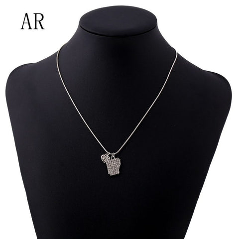 Arkansas Crystal Rhinestone Pendant Necklace