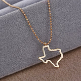 State of Texas Outline Pendant Necklace