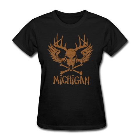 State of Michigan Skull Vintage Tee