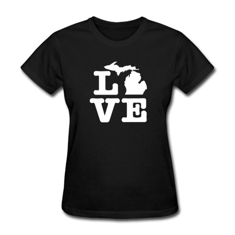 State of Michigan Love Tee