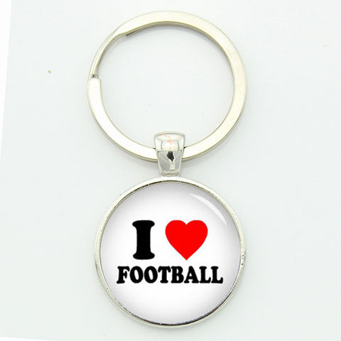 I LOVE Football Key Chain