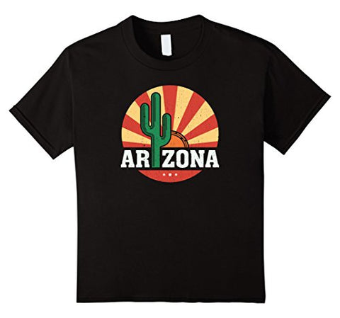 Arizona O-Neck Vintage-style Cactus Sunset T Shirt