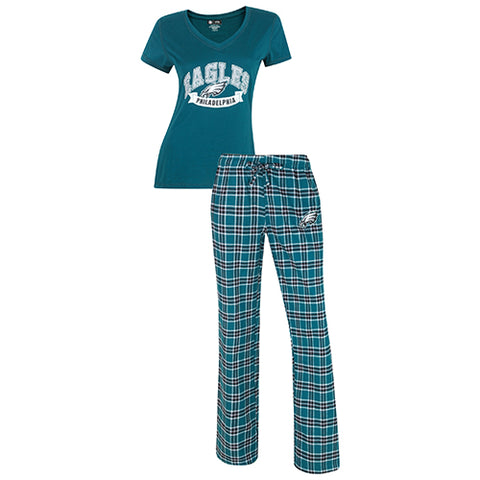 New Orleans Saints Medalist Ladies Pant & Short Sleeve Top PJ Set