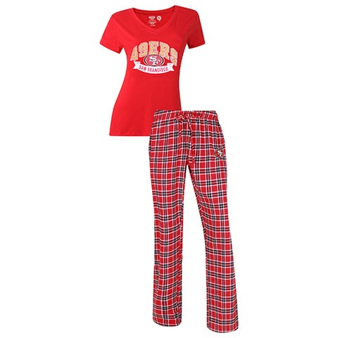 San Francisco 49ers Medalist Ladies Pant & Short Sleeve Top PJ Set