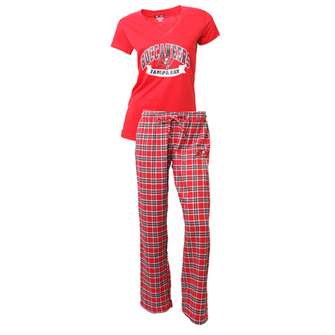 Tampa Bay Buccaneers Medalist Ladies Pant & Short Sleeve Top PJ Set