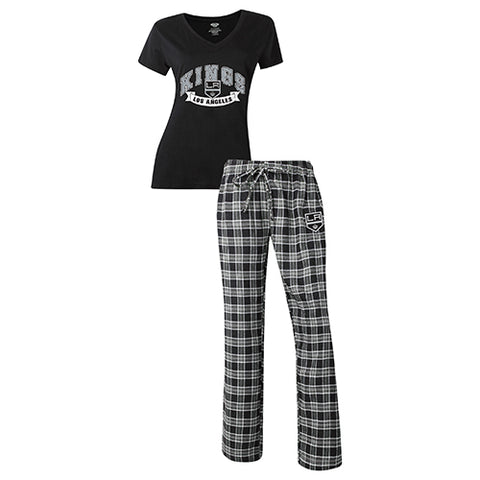 Los Angeles Kings Ladies Pant & Short Sleeve Top PJ Set