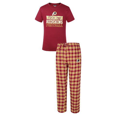 Washington Redskins Medalist Men Pant & Short Sleeve Top PJ Set