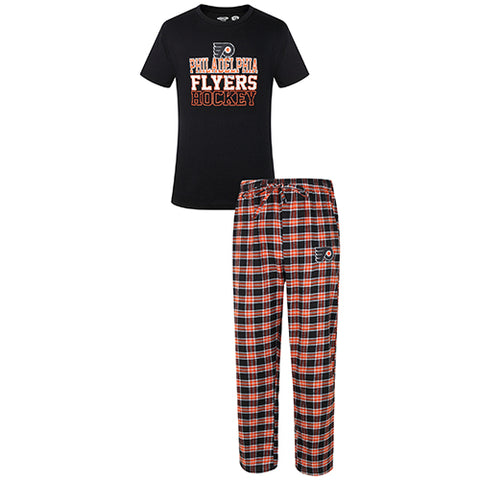 Philadelphia Flyers Medalist Men Pant & Short Sleeve Top PJ Set