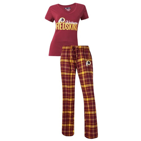 Washington Redskins Halftime Ladies Pant & Short Sleeve Top PJ Set
