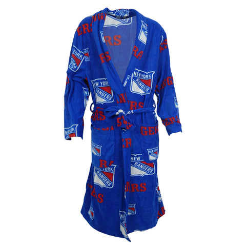 NY Rangers Ramble AOP Men's Microfleece Robe