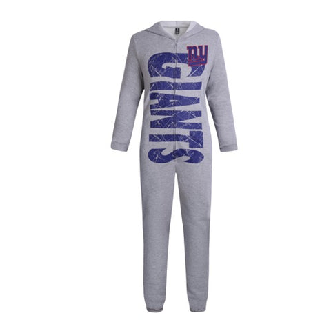 NY Giants Fandom Unisex Fleece Union Suit