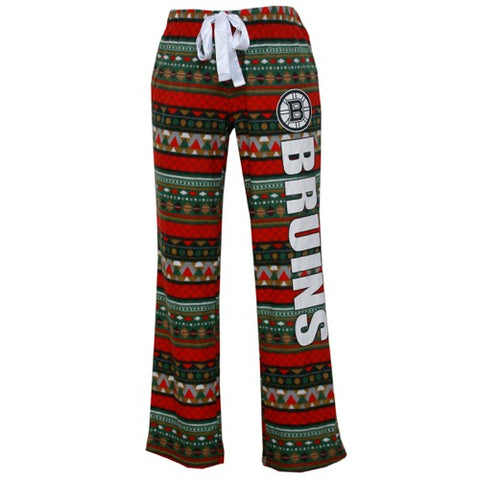 Boston Bruins Holiday Ladies Micro Fleece Pants