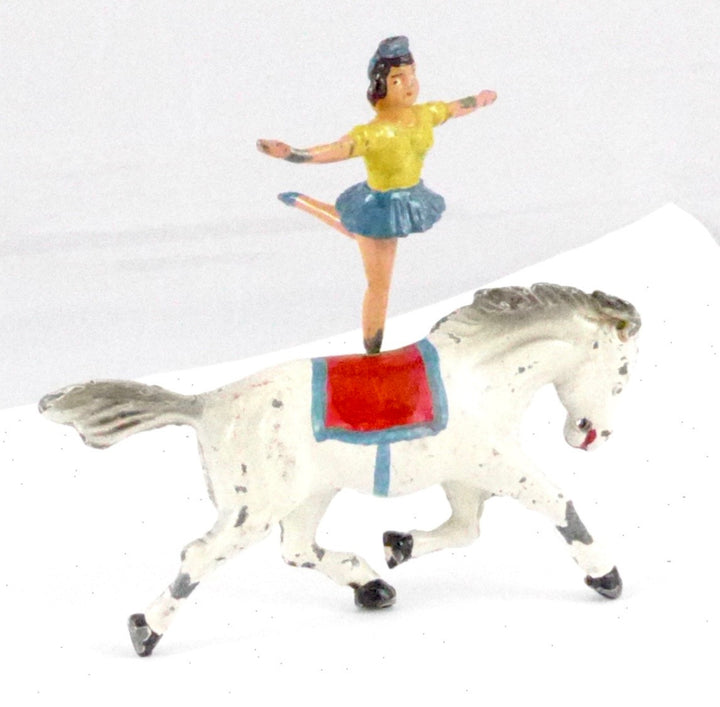 rare Timpo equestrienne on horseback