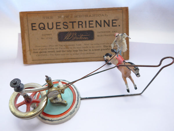 Britains The New Mechanical Equestrienne with part box